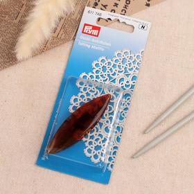 Челнок для плетения кружев в технике фриволите, 7 cм, цвет коричневый