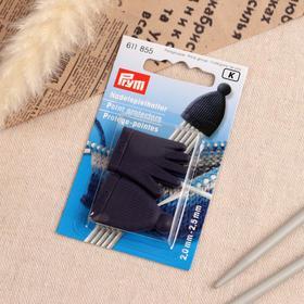 Наконечники для носочных спиц, d = 2 - 2,5 мм, 2 шт, цвет фиолетовый
