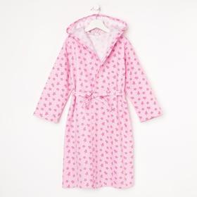Халат для девочки НАЧЁС, цвет розовый/принт короны, рост 92 см
