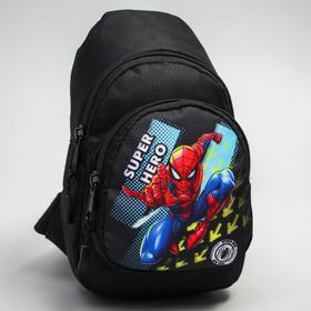 Сумка-рюкзак «Человек-паук», 15 х 26 см, отдел на молнии, н/карман, рег. ремень, MARVEL