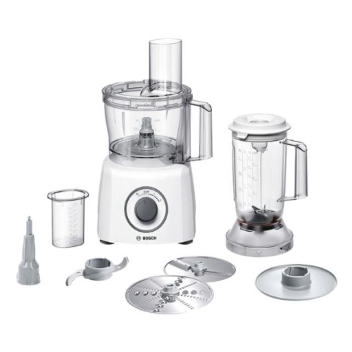 Кухонная машина Bosch MCM 3200W white, 800 Вт, 2.3/1 л, 2 скорости, 3 насадки, белая