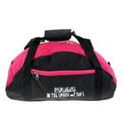Сумка дорожная для фитнеса, 1отдел, наружный карман, черно-розовый