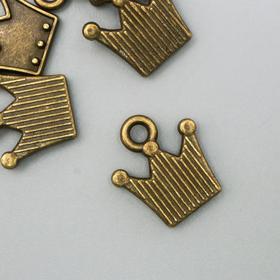 Crown pendant, bronze color 0. 9x1. 1 cm