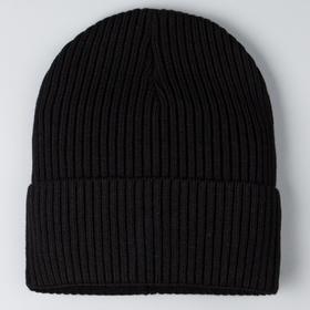 Шапка для девочки, цвет чёрный, размер 47-50 см (1,5-3 года)