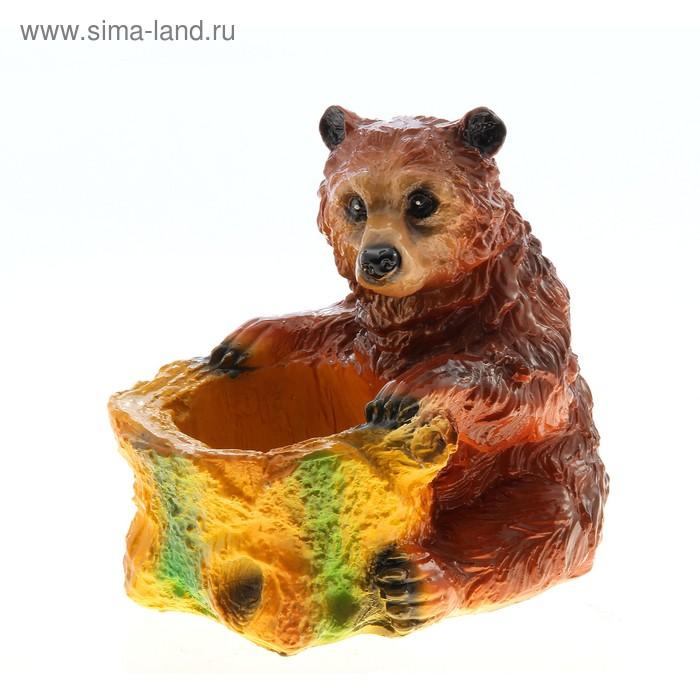"""Фигурное кашпо """"Сидящий медведь"""""""