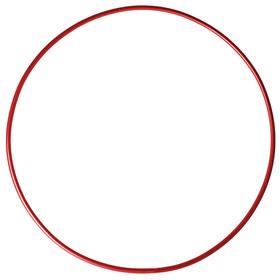 Обруч гимнастический, стальной, d=90 см, 900 г, цвет красный