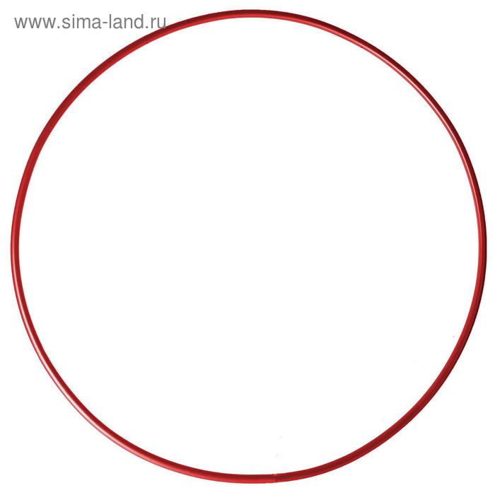 Обруч гимнастический, стальной, d=900 мм, цвет: красный