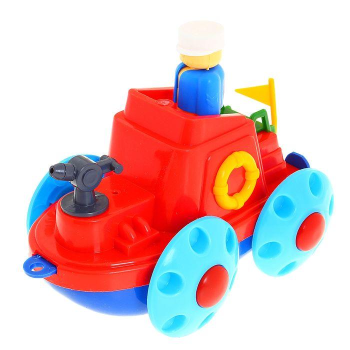 Корабль-амфибия пожарный, цвета МИКС