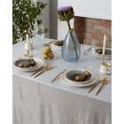 Скатерть с пайетками, цвет серебро, 150х150 см - фото 785650