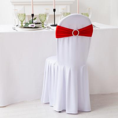 Декор для стула, цв.красный, 15*35 см, 100% п/э