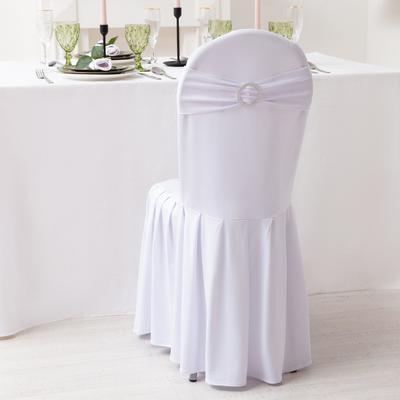 Декор для стула, цв.серебро, 15*35 см, 100% п/э