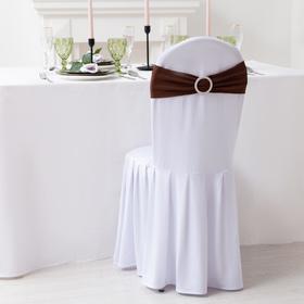 Декор для стула, цв.коричневый, 15*35 см, 100% п/э