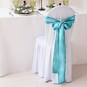 Декор для стула, цв.бирюзовый, 14*275 см, 100% п/э