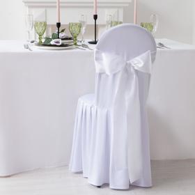 Декор для стула, цв.белый, 14*275 см, 100% п/э