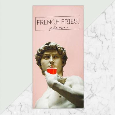 """Полотенце """"French fries"""" 70х146 см, 100% хлопок  160гр/м2"""