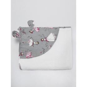 Полотенце детское с уголком «Мечта», размер 90х90 см, цвет белый