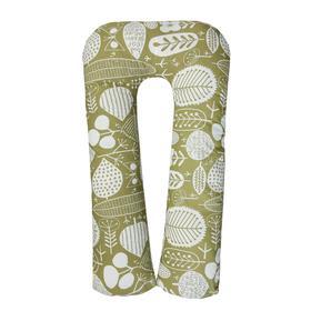 Наволочка к подушке для беременных U-образная «Листья», размер 340х35 см