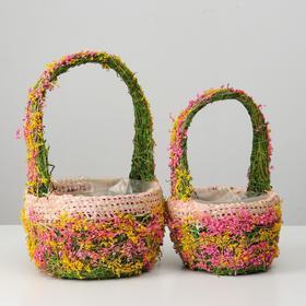 Набор корзин 2шт, из травы