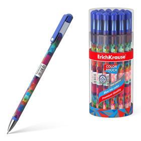 Ручка гелевая дизайн ErichKrause ColorTouch Patchworks, чернила/синие 50750