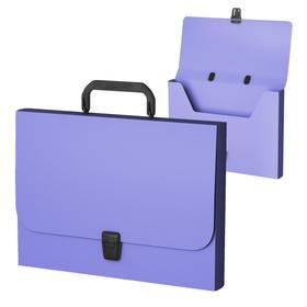 Папка-портфель А4+, 1 отделение,  700 мкм, ErichKrause Matt Pastel Mint, до 350 листов, фиолетовая