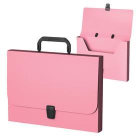 Папка-портфель А4+, 1 отделение,  700 мкм, ErichKrause Matt Pastel Mint, до 350 листов, розовая