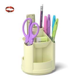 Набор настольный на вращающейся подставке 8 предметов, ErichKrause Mini Desk, Pastel, пластиковый, желтый