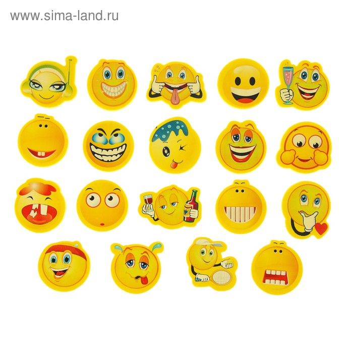 Ластик фигурный Смайл МИКС