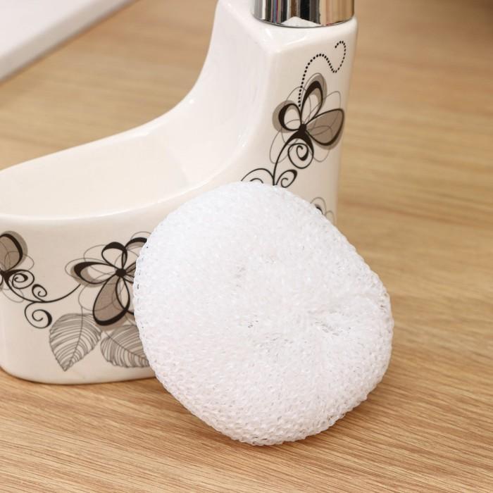 "Дозатор для моющего средства 250 мл с подставкой для губки ""Романтика"""
