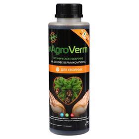 Органическое удобрение AgroVerm для хвойных, 0,5 л