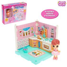 Кукольный дом «В гостях у Молли», кухня, с куклой и аксессуарами