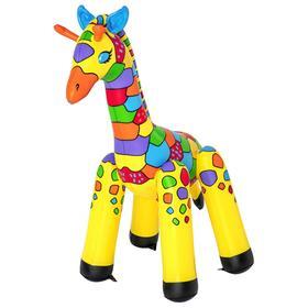 Игрушка надувная «Жираф», от 2 лет, 142 x 104 x 198 см, с распылителем, 52384 Bestway