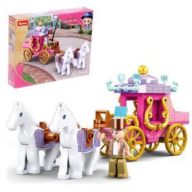 Конструктор Розовая мечта «Королевская карета», 139 деталей
