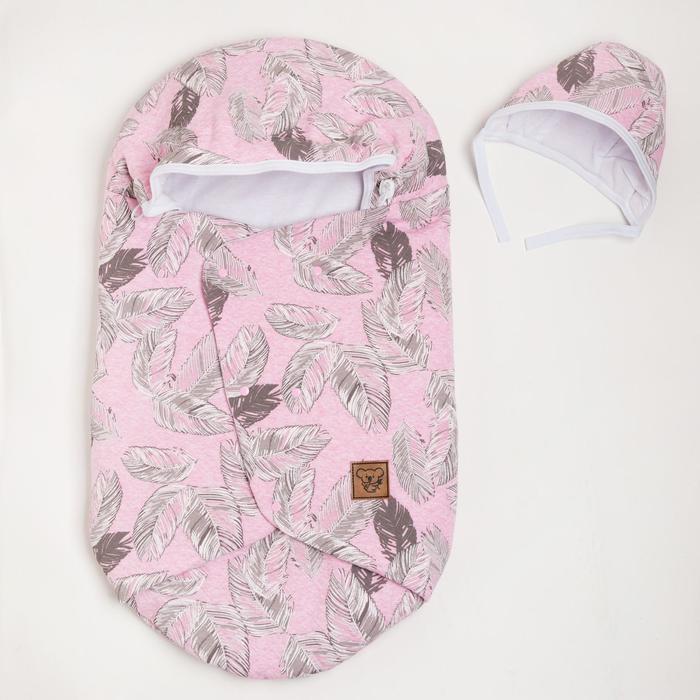 Конверт на выписку 2 предмета, цвет розовый - фото 76910189