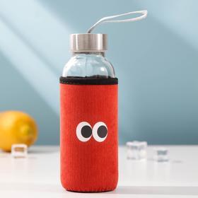 Бутылка в чехле «Глаза», 300 мл, цвет МИКС