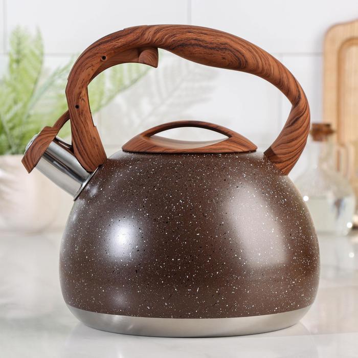Чайник со свистком «Мрамор», 3 л - фото 786079