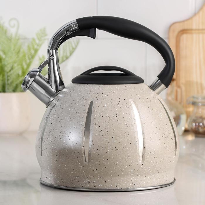 Чайник со свистком «Мрамор», 3 л - фото 786127