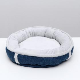 "Лежанка ""Лофт"" PerseiLine ЛФ-0 круглая размер M 47 x 10 см, синий"