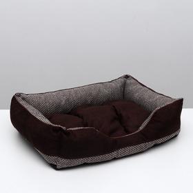 """Лежанка """"Лофт мокко №4"""", 70 х 55 х 20 см, темно-коричневый"""