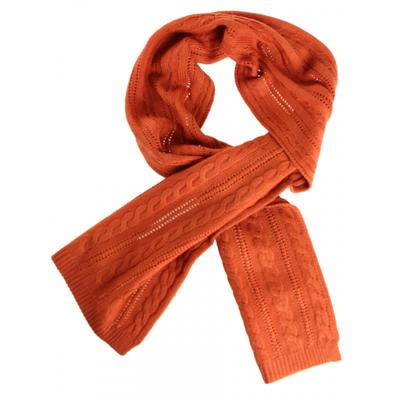 Шарф мужской, размер 27х170 см, цвет оранжевый
