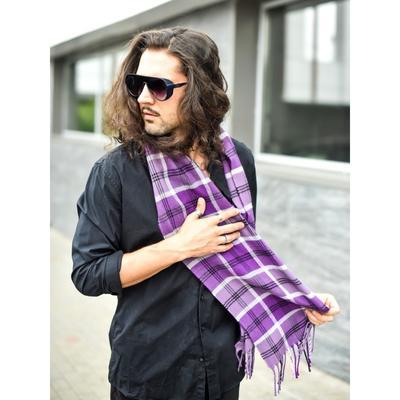 Шарф мужской, размер 25х170 см, цвет фиолетовый, сиреневый