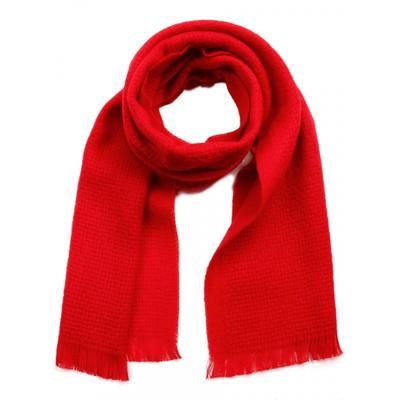 Шарф мужской, размер 30х140 см, цвет красный