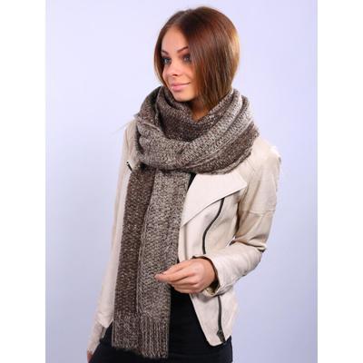 Шарф женский, размер 45х240 см, цвет коричневый