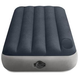 Матрас надувной Single-High, 99 х 191 х 25 см, встроенный насос на батарейках 4 х АА, встроенный ножной насос, 64781 INTEX
