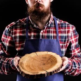 """{{photo.Alt    photo.Description    'Блюдо-спил для подачи """"Дубовый"""", 20-25 см, массив дуба'}}"""