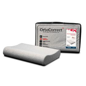 Anatomical pillow OrtoCorrect Classic Simple M 58x37, rollers 9/11.