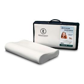 Anatomical pillow OrtoCorrect Classic XS (for children) from 1-1.5 years old to 3-5 years old. 38x24, shaft.