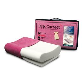 Ортопедическая подушка OrtoCorrect «Lavanda» Classic M с регулировкой высоты с лавандовым с