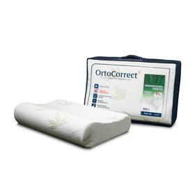 Anatomical pillow OrtoCorrect Aloe Vera XL 58x38, rollers 10/14.