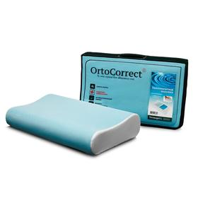 Anatomical pillow OrtoCorrect Termogel L with gel insert 58x38, rollers 10/12.