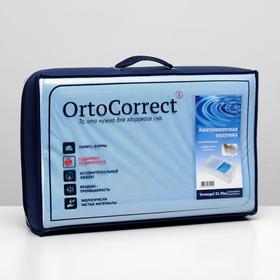 Anatomical pillow OrtoCorrect Termogel XL Plus with gel insert 58x38, rollers 12/14.